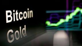 Símbolo de Cryptocurrency do ouro de Bitcoin O comportamento das trocas do cryptocurrency, conceito Tecnologias financeiras moder ilustração do vetor