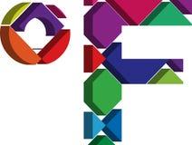 símbolo de 3d Farenheit Imagens de Stock