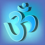 símbolo de 3d OM Imagens de Stock