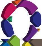 símbolo de 3d OMEGA ilustración del vector