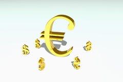 Símbolo de dinero en circulación Fotos de archivo