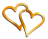 Símbolo de dos corazones Fotografía de archivo libre de regalías