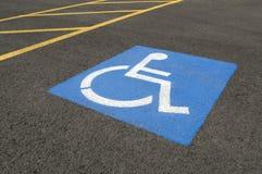 Símbolo de estacionamento tido desvantagens imagem de stock royalty free