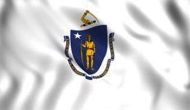 Símbolo de estado de los E.E.U.U. del estado de Massachusetts de la bandera libre illustration