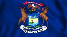 Símbolo de estado de los E.E.U.U. del estado de Michigan de la bandera ilustración del vector