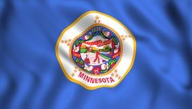 Símbolo de estado de los E.E.U.U. de la bandera de Minnesota stock de ilustración