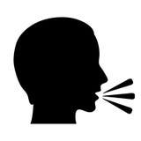 Símbolo de fala Imagens de Stock Royalty Free