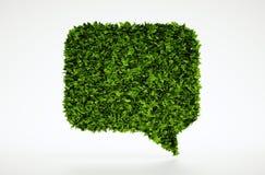 Símbolo de fala da bolha da ecologia Fotografia de Stock Royalty Free