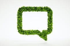 Símbolo de fala da bolha da ecologia Fotografia de Stock