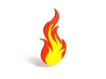 Símbolo de fogo Foto de Stock Royalty Free