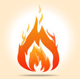 Símbolo de fogo do vetor Imagem de Stock