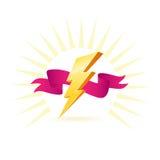 Símbolo de gran alcance de la iluminación stock de ilustración