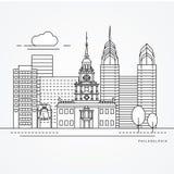 Símbolo de Hall The de la independencia de Philadelphia, los E.E.U.U. ilustración del vector