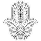Símbolo de Hamsa en blanco y negro foto de archivo libre de regalías