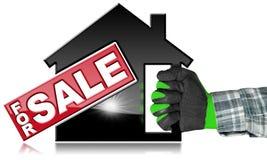 Símbolo de House For Sale modelo Imagens de Stock