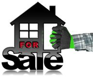 Símbolo de House For Sale modelo Fotos de Stock