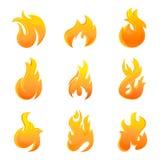 Símbolo de incêndio Imagem de Stock