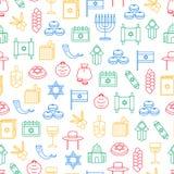 Símbolo de Israel Seamless Pattern Background Vetor ilustração do vetor