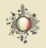 Símbolo de Italy ilustração royalty free