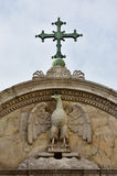 Símbolo de John Evangelist de Saint com cruz em Veneza foto de stock royalty free