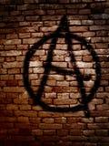 Símbolo de la anarquía Fotos de archivo libres de regalías