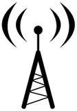 Símbolo de la antena de radio Foto de archivo libre de regalías