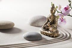 Símbolo de la armonía del zen con Buda Imágenes de archivo libres de regalías