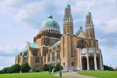 Símbolo de la basílica de Koekelberg de Bruselas Fotos de archivo