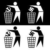 Símbolo de la basura Foto de archivo libre de regalías