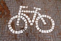 Símbolo de la bici Imagen de archivo