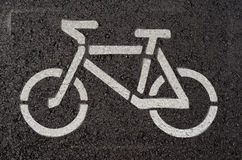 Símbolo de la bici Foto de archivo