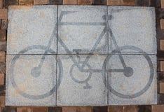 Símbolo de la bicicleta. Fotos de archivo