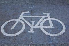 Símbolo de la bicicleta Foto de archivo