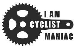 Símbolo de la bicicleta Fotografía de archivo libre de regalías