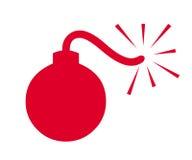 Símbolo de la bomba Fotografía de archivo