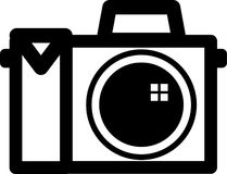 Símbolo de la cámara stock de ilustración
