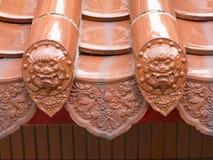 Símbolo de la cara de dos leones Imagen de archivo libre de regalías