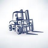 Símbolo de la carretilla elevadora Fotos de archivo libres de regalías