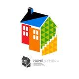 Símbolo de la casa de la propiedad del vector Imagen de archivo
