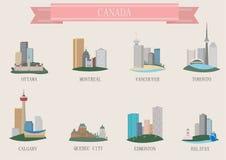 Símbolo de la ciudad. Canadá Foto de archivo