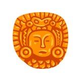 Símbolo de la civilización del maya, ejemplo tribal americano del vector del elemento de la cultura en un fondo blanco libre illustration