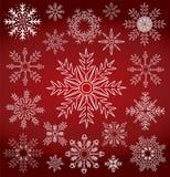 Símbolo de la colección del copo de nieve del invierno Imagenes de archivo