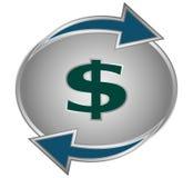Símbolo de la conversión del dólar ilustración del vector
