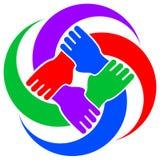 Símbolo de la cooperación stock de ilustración
