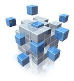 Símbolo de la cooperación del asunto del trabajo en equipo Imágenes de archivo libres de regalías