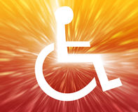Símbolo de la desventaja Imagen de archivo libre de regalías
