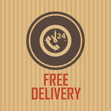 Símbolo de la entrega Fotografía de archivo libre de regalías