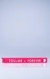 Símbolo de la etiqueta del amor Imagen de archivo