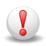 Símbolo de la exclamación en bola Fotografía de archivo libre de regalías