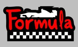 Símbolo de la fórmula Imagenes de archivo